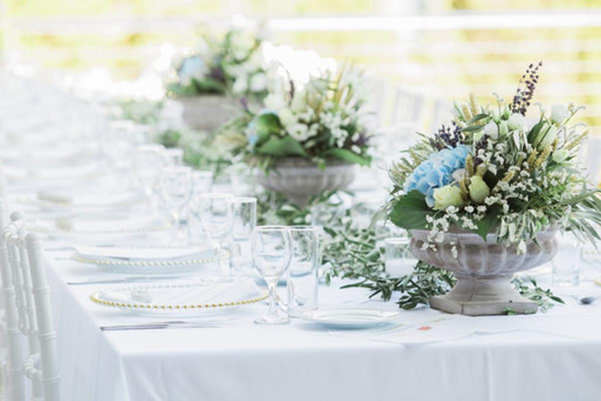 Γάμος Σε Γαλάζιους Τόνους Και Φυσικό Στυλ